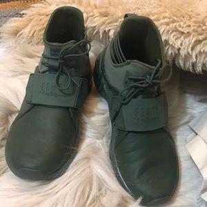 FENTY by Rihanna Puma green tennis shoes 6.5 6 ½